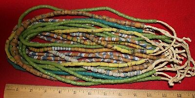 (12) Strands of Sandcast Trade Beads....MARCH CLOSEOUT SPECIAL !!
