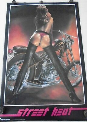 """Orig. Vintage - PIN-UP Poster - Street Heat - Exc. new cond.- 23 x 35"""""""