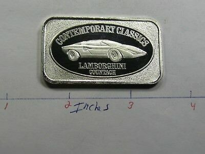 Lamborghini Countach Continental Coin Engraveable 999 Silver Bar Rare Cool #d