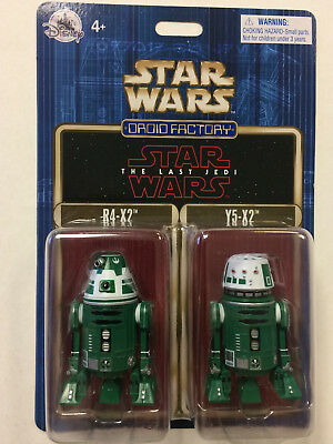 Disney Parks 2017 Star Wars The Last Jedi Droid Factory R4-X2 & Y5-X2 2 Pack
