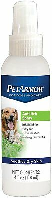 Pet Armor Anti-Itch Spray for Dogs & Cats 4 Fl Oz Soothes Dry Skin