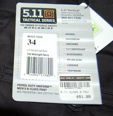 Size 34  511  Tactical Midnight Navy Pants Trousers Free Shipping