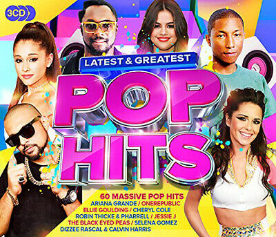 Various Artists : Latest & Greatest Pop Hits CD (2017)