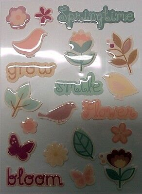 Dimensional Stickers SPRINGTIME ~Scrapbooking/Cardmaking