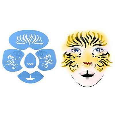 2 Sets Reusable Plastic Body Face Paint Stencil Fairy Butterfly Cat Make Up