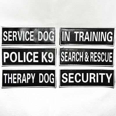 Extra patches for Harness Vest Service Dog, In Training, SECURITY, Therapy Dog