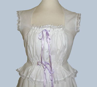 Ladies Victorian / Edwardian camisole corset cover costume fancy dress