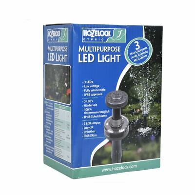 Hozelock Multi Purpose Led Light Pond Pump Fountain Adaptor Attachment Water