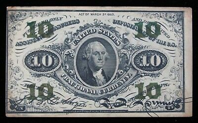 10 Cent 3rd Issue Fractional Currency XF * US Paper Money #141