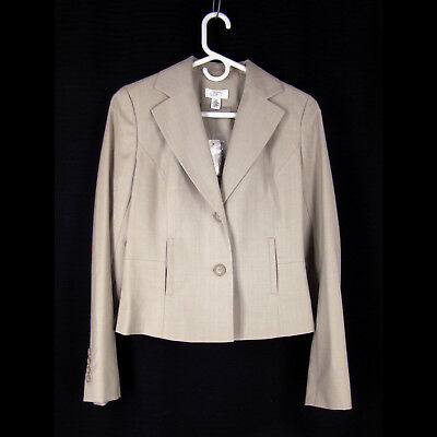 "ANN TAYLOR Loft Jacket 0 36"" Bust Light Wool Crop Semi-Fitted Blazer NEW $139"