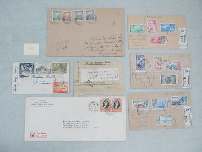 Nystamps British Barbados old stamp register mail cover collection paid $300