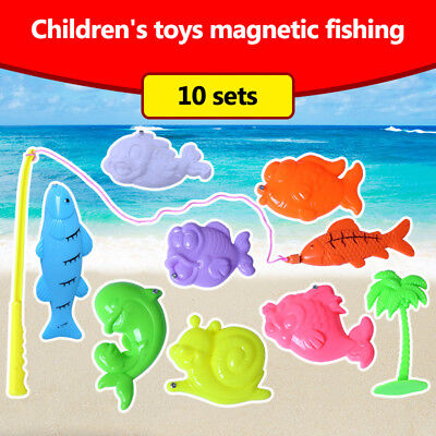 Child Magnetic Fishing Game Toys Set Fishing Rod Model Educational Toys Fun Time