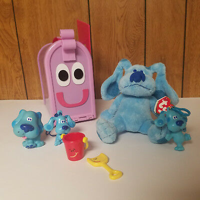 mailbox blues clues plush. Blues Clues LOT Mailbox Flag Plush TY Figure Toy Shovel Pail Nick Jr Nickelodeon