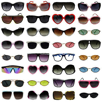 Bulk Wholesale Sunglasses Lot of 10 to 150 Pairs Assorted Styles Men Women Kids