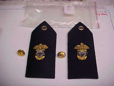 NEW USN Navy Sea Cadet Midshipman Female Dress White Shoulder Bars 1pr loc#w101