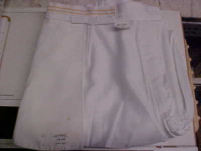 USN Navy Sea Cadet Officer Female Dress Whites Slacks 100% Polyester 18MR #w112