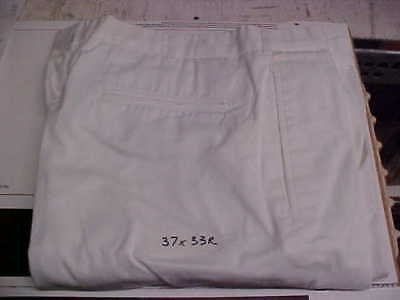 USN Navy Sea Cadet Enlisted Male Trousers Dress Whites Bell Bottoms 37X33R #w118