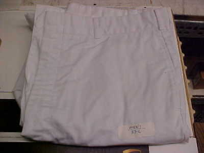 USN Navy Sea Cadet Enlisted Male Trousers Dress Whites Bell Bottoms 37L loc#w119
