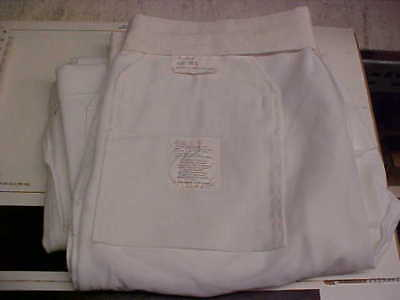 USN Navy Sea Cadet Enlisted Male Trousers Dress Whites Bell Bottoms 36L loc#w127