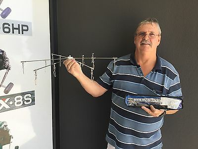 Strip Teaser Dredge  24 Inch.  S/s   12 Snap Swivels Tow Points And 12 Strips