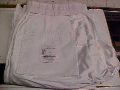 USN Navy Sea Cadet Enlisted Male Trousers Dress Whites Bell Bottoms 37L loc#w128