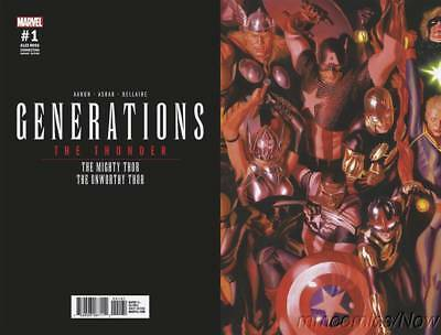 Generations Unworthy Thor & Mighty Thor #1 Ross Connecting Var Marvel Comics