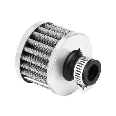 12mm Car Auto Motor Cold Air Intake Filter Kit Vent Crankcase Breather Silver