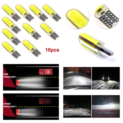 10x T10 W5W LED 6W Car Interior Light COB Light Wedge Parking Dome Bulb White H7