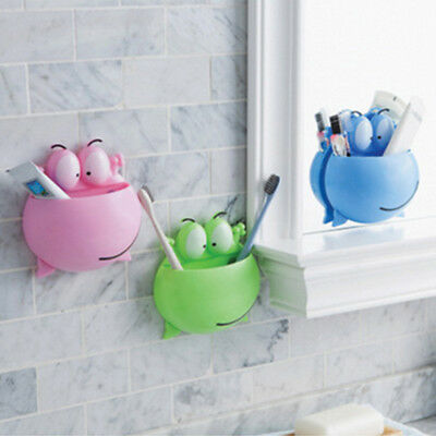 Wall Mount Suction Cup Toothpaste Storage Rack Home Bathroom Toothbrush HolderHA