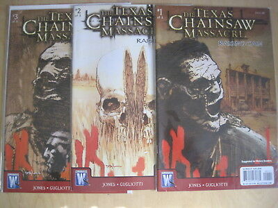 """The TEXAS CHAINSAW MASSACRE : """"RAISING CAIN""""  COMPLETE 3 ISSUE 2008 DC/WS SERIES"""
