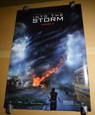 27x40 Double 2 Sided DS Original Authentic Theater Movie Poster Into The Storm