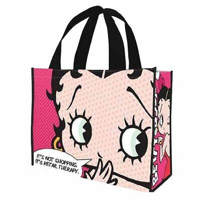 """Betty Boop """"Retail Therapy"""" Re-usable Tote Bag-New"""