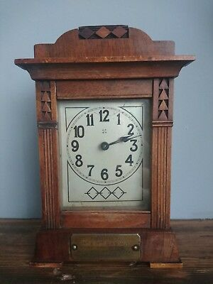 made by royal engineers during Ww1 handmade like Smiths  bracket antique clock