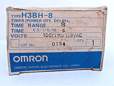 Omron H3Bh-8 *New In Box* Timer 100/110/120Vac