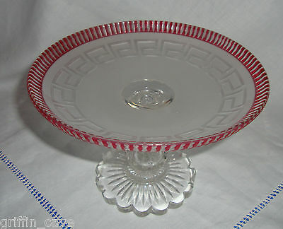 Antique Glass Tazza / Sweetmeat Dish Superb Condition