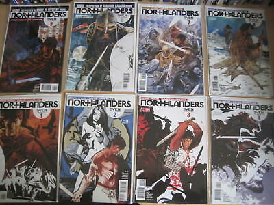 "NORTHLANDERS 1-8, ""SVEN The RETURNED"" : COMPLETE 8 ISSUE STORY. DC VERTIGO. 2008"