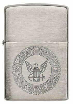 Zippo United States Navy Seal Lighter, Brushed Chrome #29385