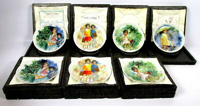 Lot Of (7) Paul Durand Limoges Turgot Childrens Collection Collectors Plates