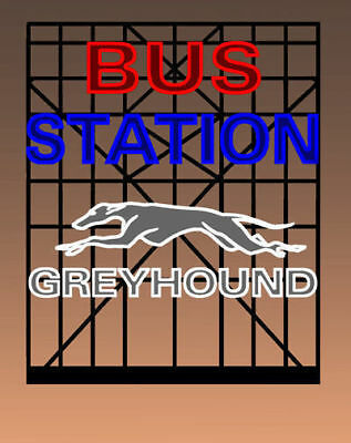 Greyhound Bus Station Animated Billboard Sign O Scale Miller 5681