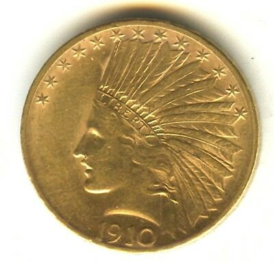 1910 S $10 Indian Gold MS 100% Original Lustrous MS Type Coin San Francisco