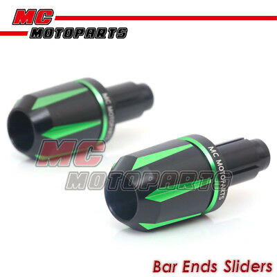 JET6 Green CNC Bar Ends Sliders For Yamaha YZF R6 2006-2016 2007 2008 2009 2010