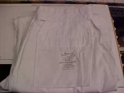 USN Navy Sea Cadet Male Enlisted Dress White Pants Bell Bottoms 32L loc#w154