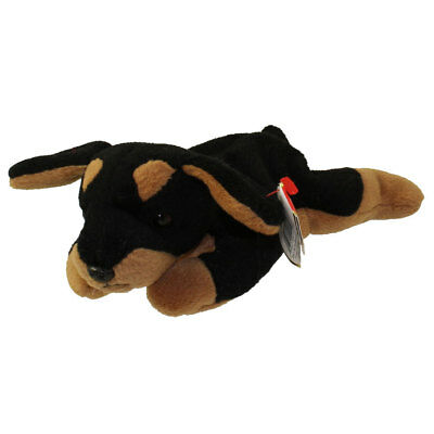 TY Beanie Baby - DOBY the Doberman Dog (8 inch) - MWMTs Stuffed Animal Toy