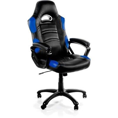 Arozzi Enzo Series Gaming Racing Style Swivel Chair Black/Blue