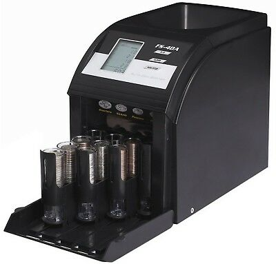 Electric Coin Sorter 4 Row Digital Currency Counting Machine Royal Sovereign