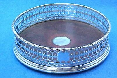 HANDSOME EARLY GEORGE III STERLING SILVER DECANTER COASTER LONDON circa 1780