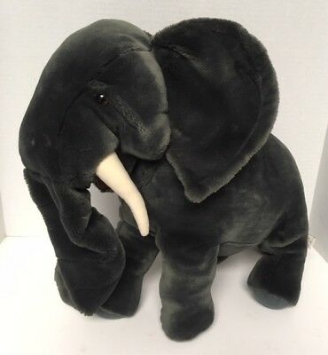 "*Large* Folkmanis ELEPHANT PUPPET Standing 19"" Plush Retired Vintage Stuffed"