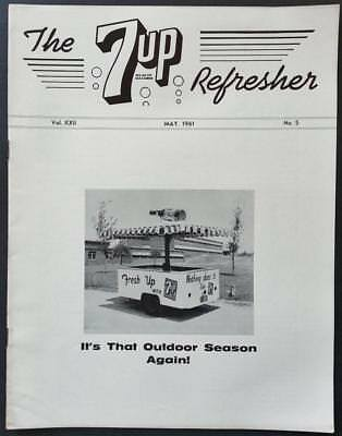 Vintage 7 UP Refresher A Monthly Magazine For 7 UP Bottlers May 1961