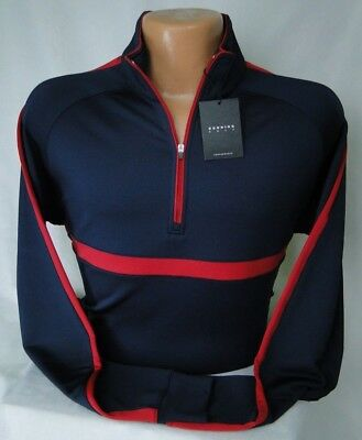 d3503fc1fbb Dunning Golf L S Competition Quarter Zip Popover in Dark Navy MSRP  115 NWT  -