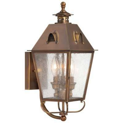 The Great Outdoors 72422-212 3-Light Outdoor Wall Sconce, Edenshire Collection